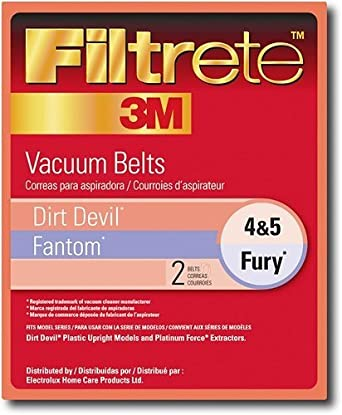 Style 4 & 5 Dirt Devil Vacuum Cleaner Replacement Belt (2 Pack)