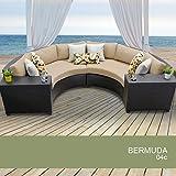 Awe Inspiring Bermuda 4 Piece Outdoor Wicker Patio Furniture Set 04C Machost Co Dining Chair Design Ideas Machostcouk