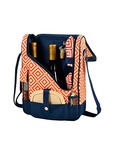 Picnic at Ascot Diamond Collection Pinot Wine & Cheese Cooler For 2, Black