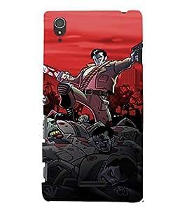 EPICCASE Zombie Killer Mobile Back Case Cover For Sony Xperia T3 (Designer Case)