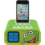 Brand New Ekids Disney Kermit The Frog Dual Alarm Clock Speaker System With Ipod Dock