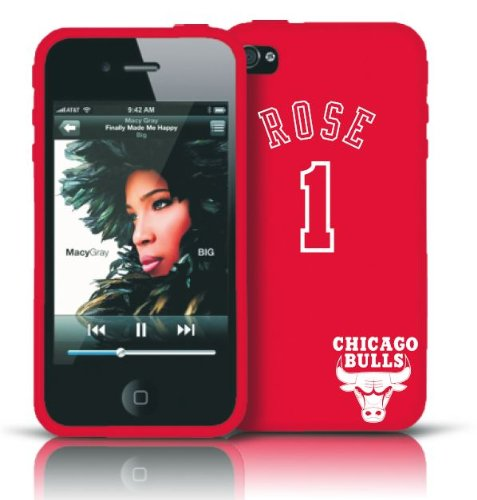 Derrick Rose #1 Chicago Bulls iPhone 4 & 4S silicone Case Cover Skin - Tribeca at Amazon.com