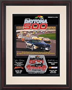 NASCAR Framed 8.5 x 11 Daytona 500 Program Print Race Year: 38th Annual - 1996 by Mounted Memories