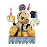 Jim Shore for Enesco Disney Traditions Mickey with Birthday Cake Figurine, 5.125-Inch