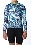 WETSUIT JACKET ULTA-STRETCH, DOUBLE LAYERED, LUXURIOUS, BOUTIQUE DESIGNS FOR KIDS YOUTH FISH design (Small (8-10y))
