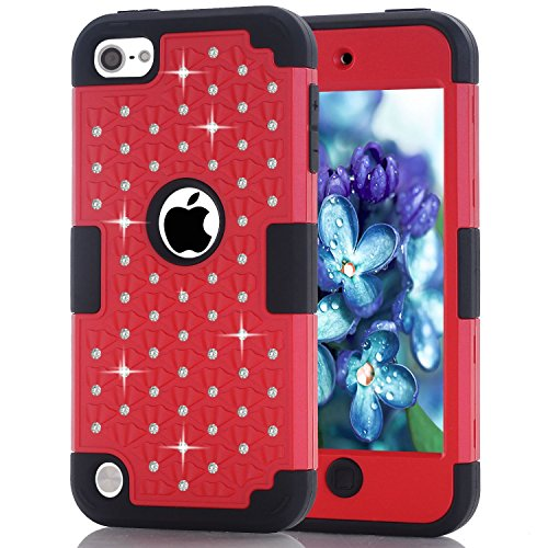 iPod Touch 5 Case, iPod Touch 6 Case, Anna Shop Diamond design 3in1 Combo Hard Shell Soft Silicone Plastic Hybrid Shockproof&Drop Resistance Protective Anti-slip Cover for Apple iPod Touch 5 6 (Iphone 6 3in1 Hard Hybrid Case compare prices)