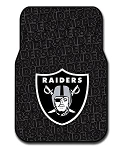 NFL Oakland Raiders Two-Pack Front Car Floor Mat by Northwest