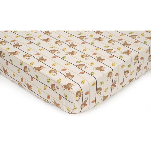 Kidsline Kids Line Rainforest Monkey Fitted Crib Sheets