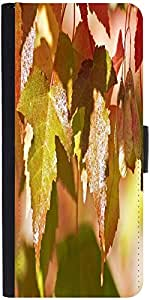 Snoogg Autumn Leaves Designer Protective Flip Case Cover For Moto-G2
