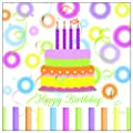 Paperproducts Design 20-Pack Happy Birthday Paper Cocktail Napkins