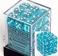 Chessex Dice d6 Sets: Teal with White…
