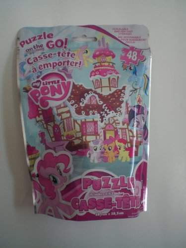 My Little Pony - 48 Piece Puzzle on the Go - Resealable Bag by Cardinal Industries - 1