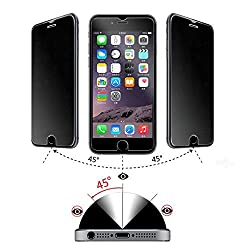 iPhone 6 Privacy Screen Protector Premium Anti Spy Tempered Glass Cover by Protech Defense Offer Total Shatter Proof Screen Protection, HD Glass Designed to Protect Privacy with Easy Install Kit. Enhance Your iPhone Screen and Security Now!