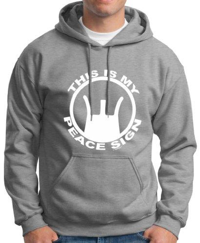 This Is My Peace Sign Ar Rifle Premium Hoodie Sweatshirt Medium Sport Grey