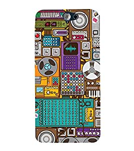 99Sublimation Music Player 3D Hard Polycarbonate Back Case Cover for HTC One A9