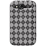 Amzer AMZ91279 Luxe Argyle High Gloss TPU Soft Gel Skin Case for HTC Wildfire S (Clear)