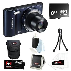 Samsung WB30F 16.2MP Smart w/ WiFi Digital Camera in Cobalt Black + 8GB Accessory Kit