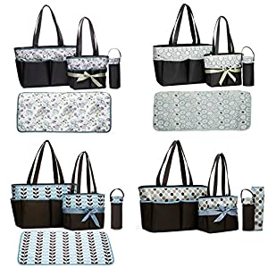 Labebe Baby Diaper Bag with Changing Mat 4 Pieces from Labebe