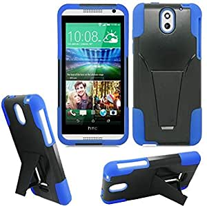 Htc Desire 526 Case , Desire 526 Case , [ Storm Buy ] Premium Hard & Soft Sturdy Durable Rugged Shell Hybrid Protective [ Anti Scratch ] Phone Case Cover with Built in Kickstand (Blue)