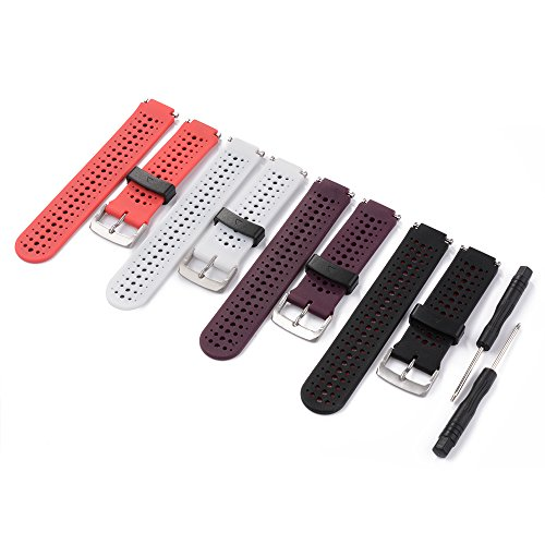 xcsource-4pcs-colorful-replacement-wristband-with-metal-clasps-for-garmin-forerunner-230-235-630-no-