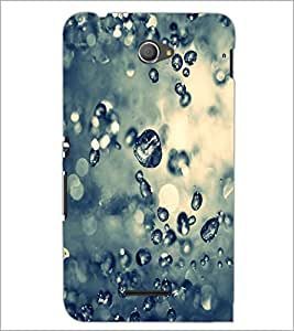 PrintDhaba Droplets D-2215 Back Case Cover for SONY XPERIA E4 (Multi-Coloured)