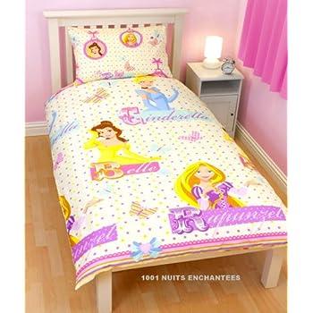 pas cher parure de lit housse de couette r versible princesse raiponce disney acheter en ligne. Black Bedroom Furniture Sets. Home Design Ideas