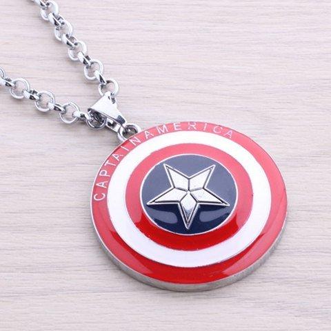 Necklace Captain America Shield Pendant, Capitan America, collana Shield per l'uomo, ragazzi