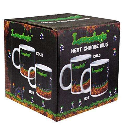 Lemmings Tasse mit Thermoeffekt Lemminge Kaffeetasse Heat Change Mug Thermo Becher