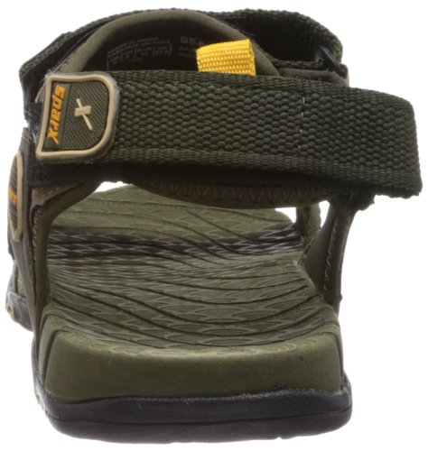 Sparx-Mens-Olive-and-Yellow-Nylon-Sandals-and-Floaters-9-UK