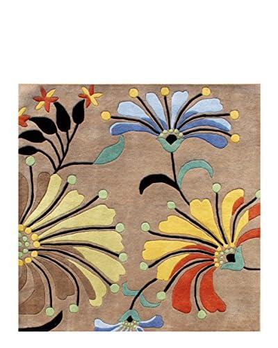 ZnZ Rug Gallery Handmade Flower New Zealand Blend Wool Rug