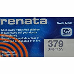 Renata Silver Oxide Watch Battery For 379 Button Cell