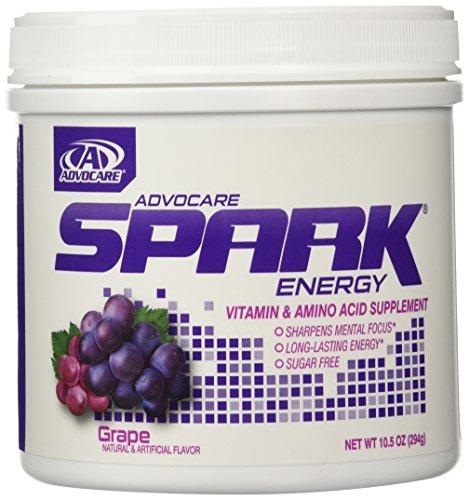 AdvoCare Spark Energy Drink (Grape) Canister 10.5 oz (Grape Spark Advocare compare prices)