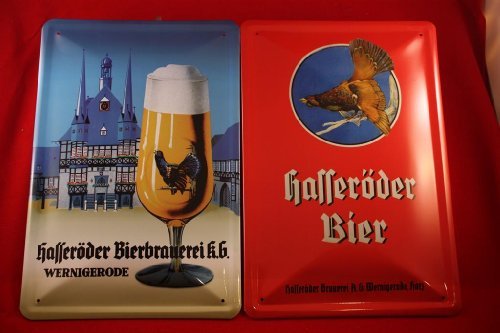 2-hasseroder-biere-blechschilder-wernigerode-20-x-30-cm-hauteur-auerhahn