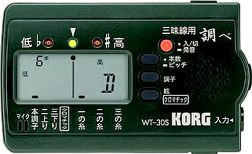 KORG チューナー 「調べ」 三味線用 WT-30S