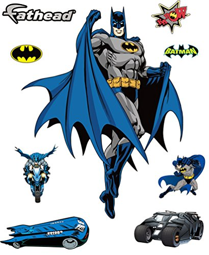 Batman DIY Pre-Cut Wall Sticker Pack | Self Adhesive Peel & Stick Decals for Boys Room Decor, Pack of 09 Stickers