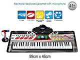 Ginzick Music Piano Electronic Keyboard Playmat with Microphone and Stand