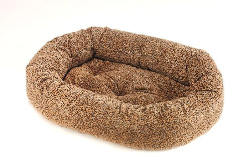 """Bowsers Donut Dog Bed, Microvelvet Puma, Large 42"""""""