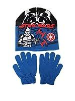 Star Wars Conjunto Gorro y Guantes Storm Trooper (Azul)