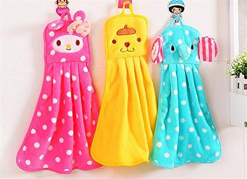 Cute Animal Stock Microfiber Kids Children Cartoon Absorbent Hand Dry Towel Lovely Towel For Kitchen Bathroom Use