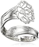 Alex and Ani Spoon Lotus Peace Petals Ring, Size 7-9