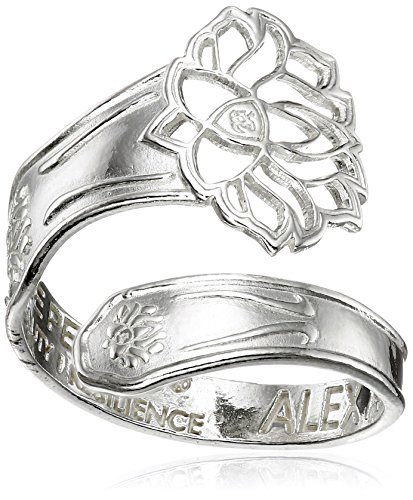 Alex-and-Ani-Spoon-Lotus-Peace-Petals-Ring-Size-7-9