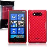 Nokia Lumia 820 TPU Gel Skin Case / Cover - Red