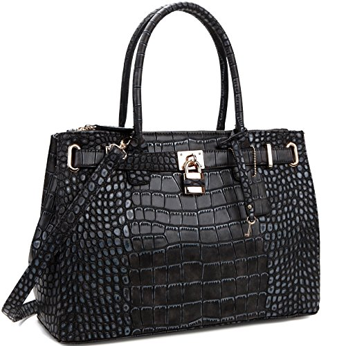 MyLux® Connection Fashion Designer Office Handbag Tote 0326-1-black
