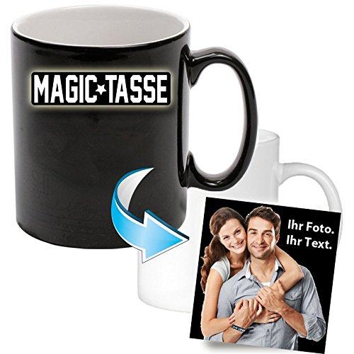 """Fototasse """" Magic Schwarz """" Wir"""