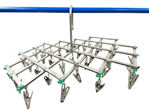 Laundry Clothesline Hanging Rack With 34 Clips For Travel Home Drip Drying (Cloth Diaper Dryer compare prices)
