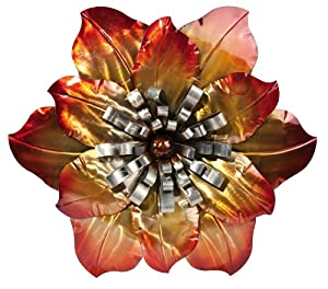 Metal flower wall decor kitchen home for Decorate with flowers amazon