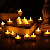Stunning Flameless LED Tea Light Candles - Realistic Battery-Powered Flameless Candles - Beautiful and Elegant Unscented LED Candles - The Perfect Decoration - (24 Pack) - Fake Candles - Divine LEDs