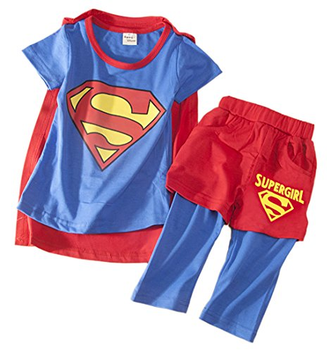 StylesILove Baby Kids Girl Supergirl 3-piece Costume Clothes
