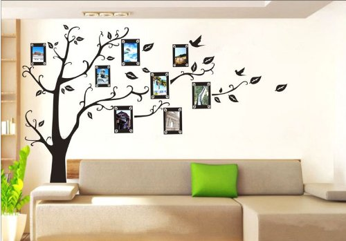 Ankin Large Black Photo Picture Frame Tree Vine Branch Removable Wall Decor Decal Sticker Xl Right Facing