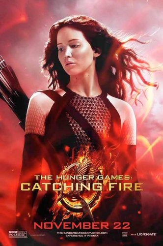 "Hunger Games: Catching Fire (2013) Movie Poster Reprint 13"" x 19"" Borderless SHIPS FLAT! Katniss 2"